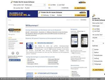 Main page screenshot of studenten-wg.de