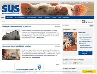 Main page screenshot of susonline.de