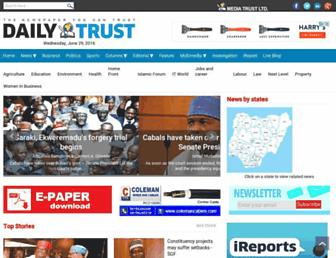 Thumbshot of Dailytrust.com.ng