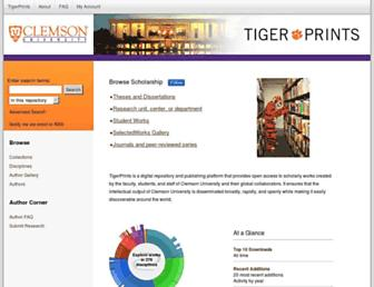 tigerprints.clemson.edu screenshot