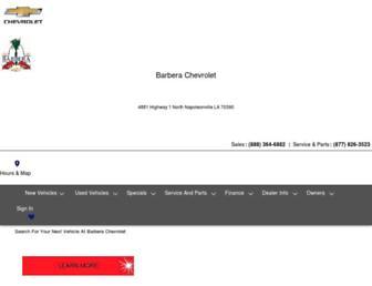 barberachevrolet.com screenshot