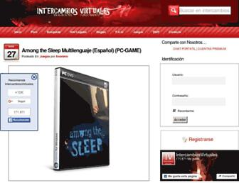 Main page screenshot of intercambiosvirtuales.org