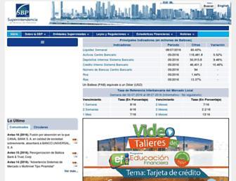 superbancos.gob.pa screenshot