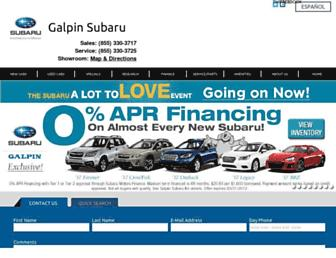 galpinsubaru.com screenshot