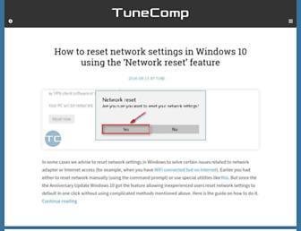 tunecomp.net screenshot