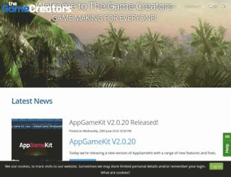 thegamecreators.com screenshot