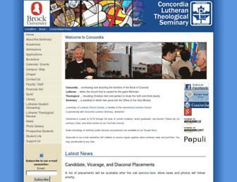 Main page screenshot of concordia-seminary.ca