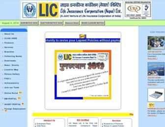 licnepal.com.np screenshot