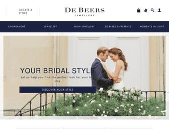 debeers.com screenshot