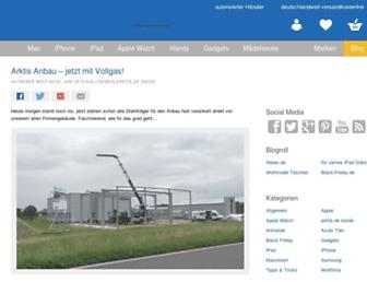 Main page screenshot of blog.arktis.de