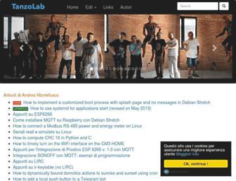 tanzolab.it screenshot