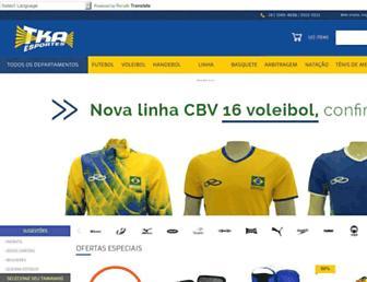 tkaesportes.com.br screenshot