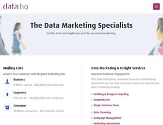 datahq.co.uk screenshot