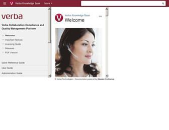 kb.verba.com screenshot