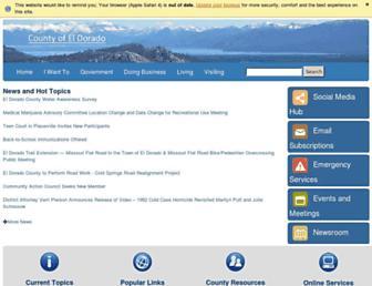 edcgov.us screenshot