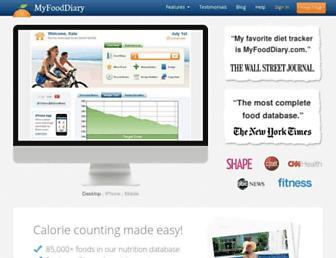 Thumbshot of Myfooddiary.com