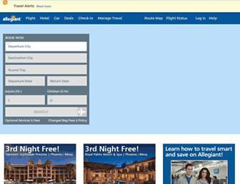 allegiantair.com screenshot
