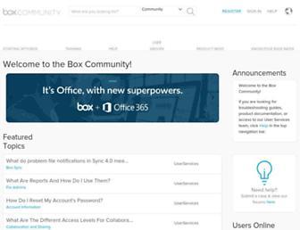 community.box.com screenshot
