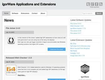 igorware.com screenshot