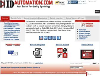 idautomation.com screenshot