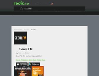 seoulfm.radio.net screenshot