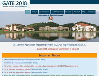 gate.iitg.ac.in screenshot