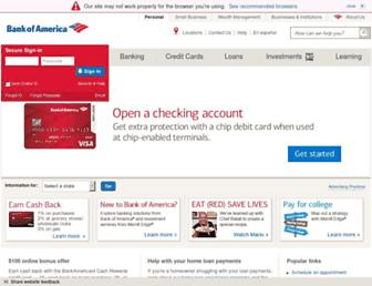 bankofamerica.com screenshot