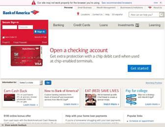 Thumbshot of Bankofamerica.com
