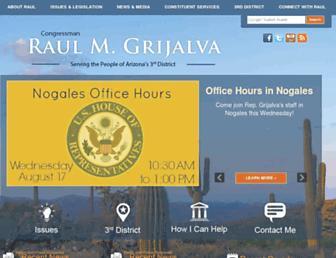 Main page screenshot of grijalva.house.gov