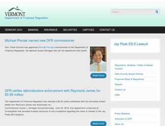 dfr.vermont.gov screenshot