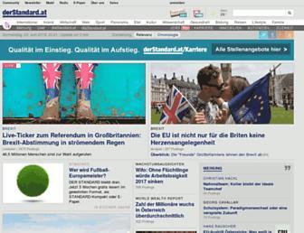 Main page screenshot of derstandard.at