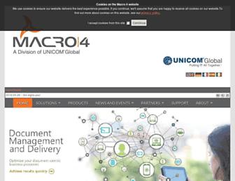 macro4.com screenshot