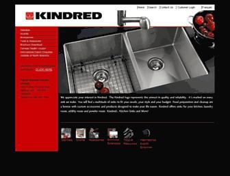 kindred-sinkware.com screenshot