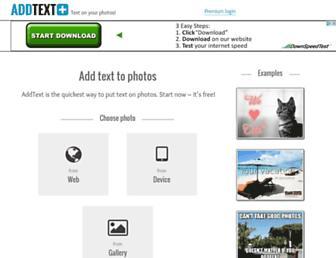 addtext.com screenshot