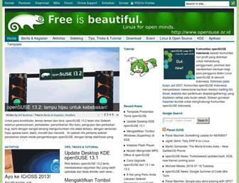 Main page screenshot of opensuse.or.id