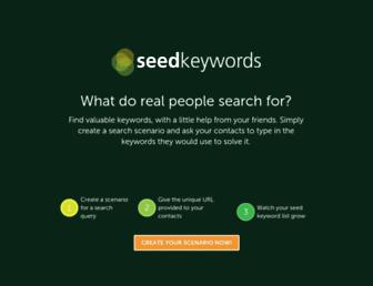 seedkeywords.com screenshot