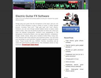 Main page screenshot of guitar-fx.org