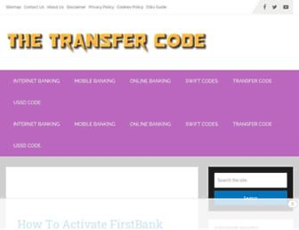 thetransfercode.com screenshot