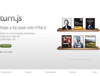 turnjs.com screenshot