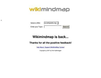 Main page screenshot of wikimindmap.org