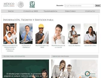 Main page screenshot of imss.gob.mx