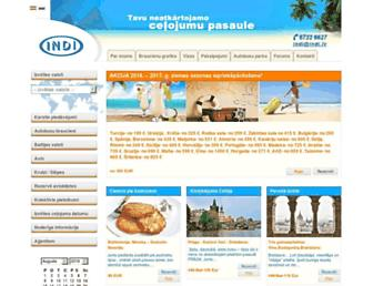 Main page screenshot of indi.lv