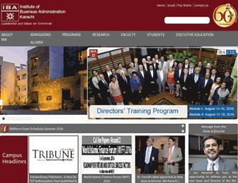Thumbshot of Iba.edu.pk