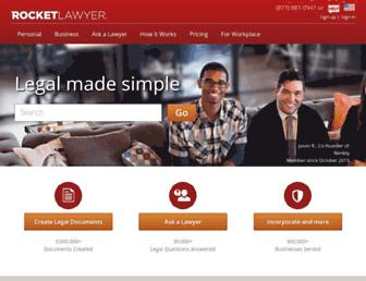 rocketlawyer.com screenshot