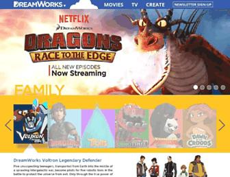dreamworksanimation.com screenshot
