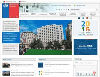 Main page screenshot of hacienda.gov.cl