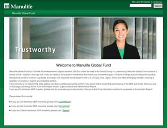 manulifeglobalfund.com screenshot