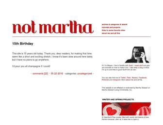 Main page screenshot of notmartha.org