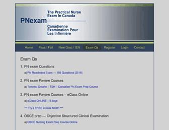 pnexam.ca screenshot