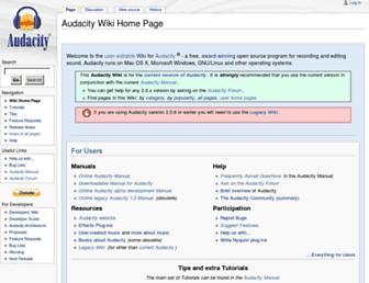wiki.audacityteam.org screenshot